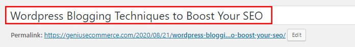SEO Title WordPress